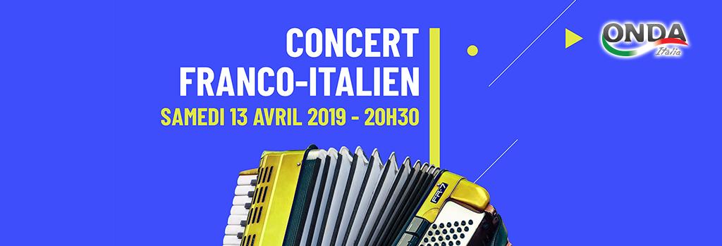 Concert Franco Italien samedi 13 avril 2019 à 20h30